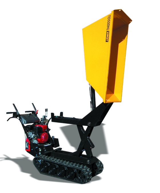 WINGET TD500HL HIGH LIFT TRACKED DUMPER RAISED AND TIPPED CUT OUT 2