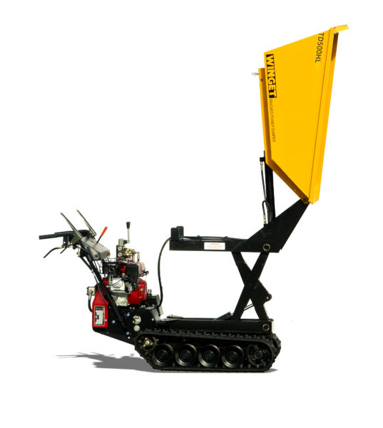 WINGET TD500HL HIGH LIFT TRACKED DUMPER RAISED AND TIPPED